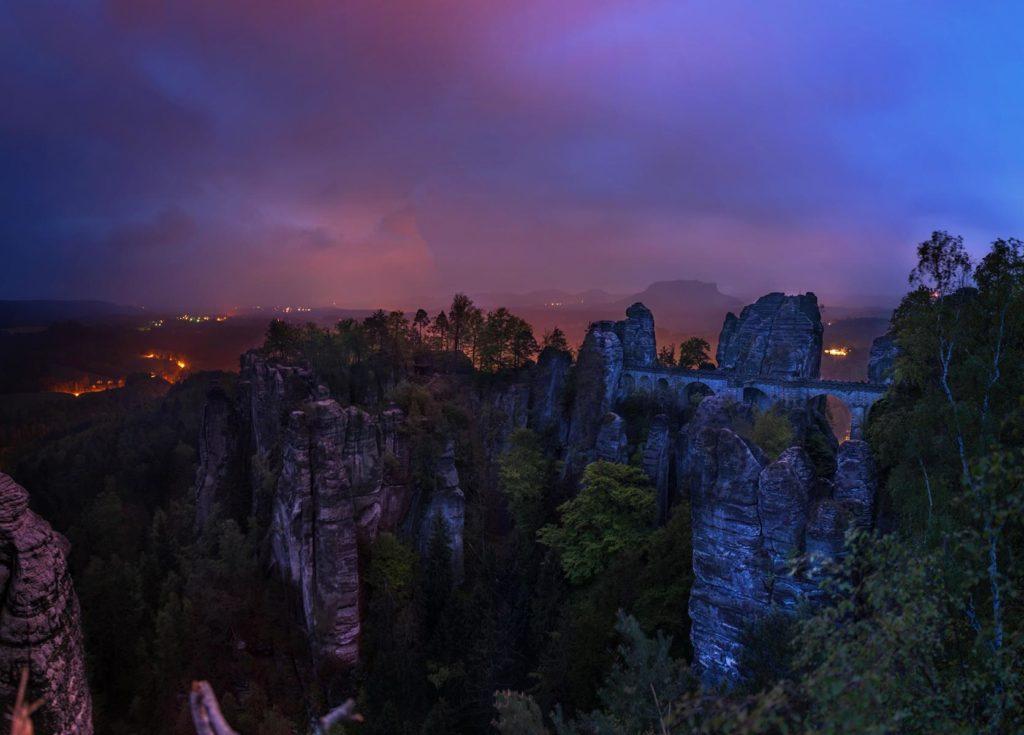 Blaue Stunde auf der Bastei . fotografiert tipps wie du die blaue Stunde fotografieren kannst